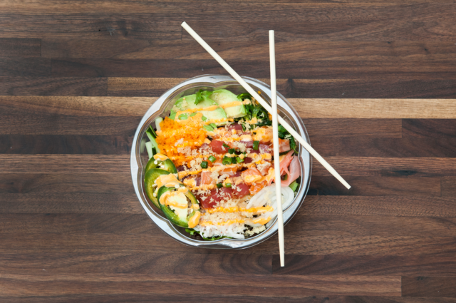 FISH BOWL POKE: Poke bowl. Photo by JOEFF DAVIS