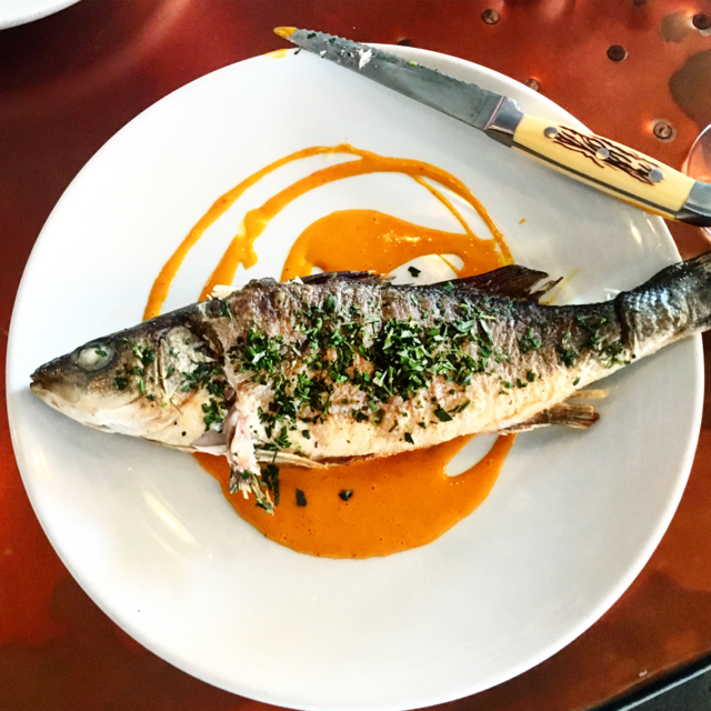8ARM: Whole branzino. Photo by ANGELA HANSBERGER